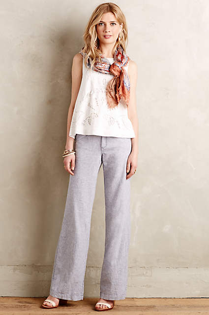 Pilcro Linen Trousers. Anthropologie. $88. So good with the grey pair of re-souLs!