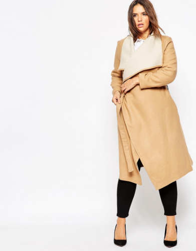 Waterfall Coat. ASOS Curve. $170.19
