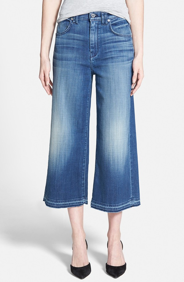 7 For All Mankind Denim Culottes. Nordstrom. Was: $198 Now: $132.