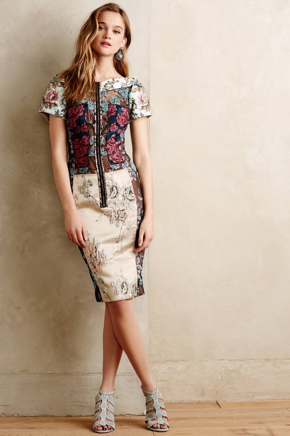 Pieced Brocade Dress. Anthropology. $268.