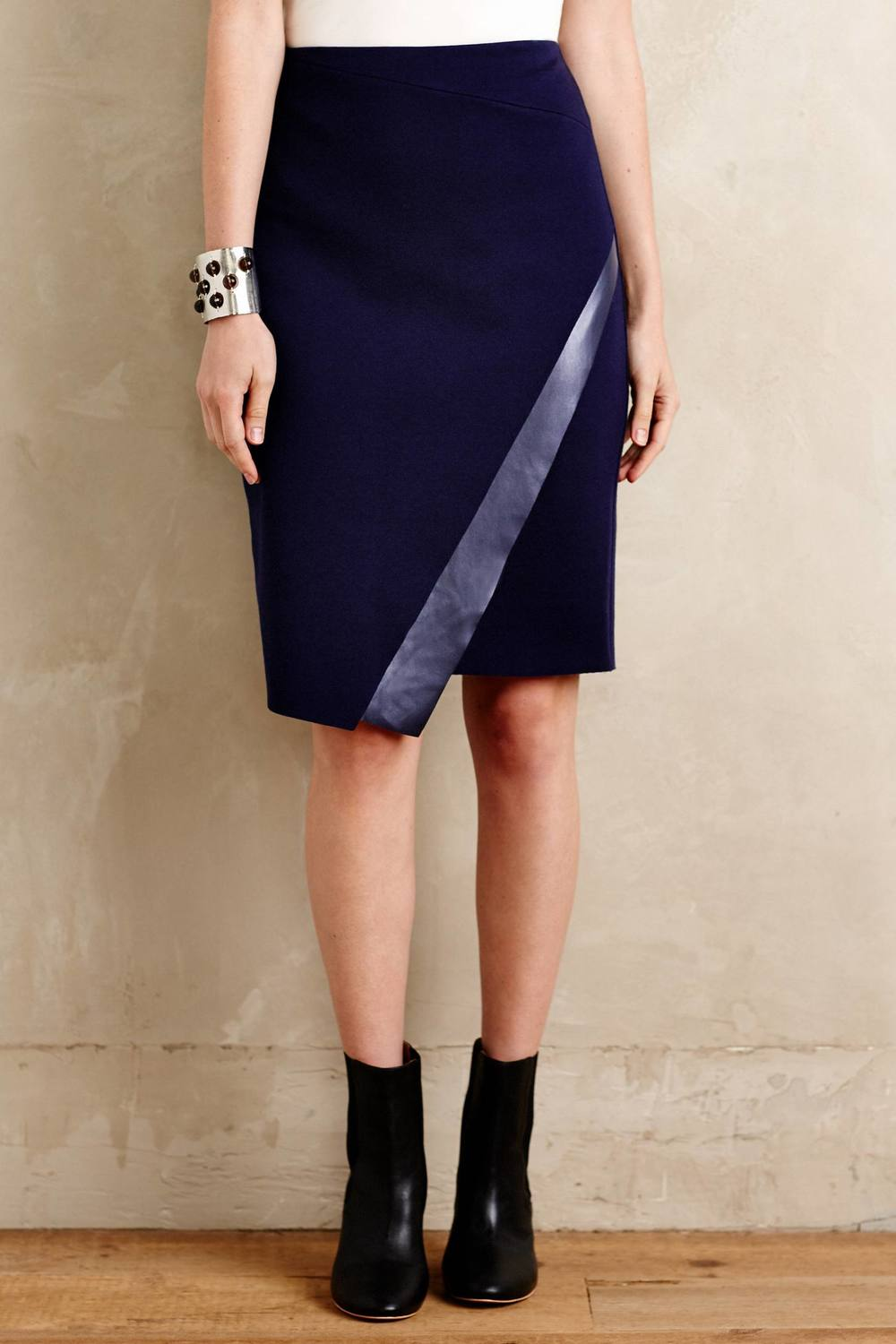 Bailey 44 Astin Wrap Skirt. Available in blue, red. Anthropologie. $128.