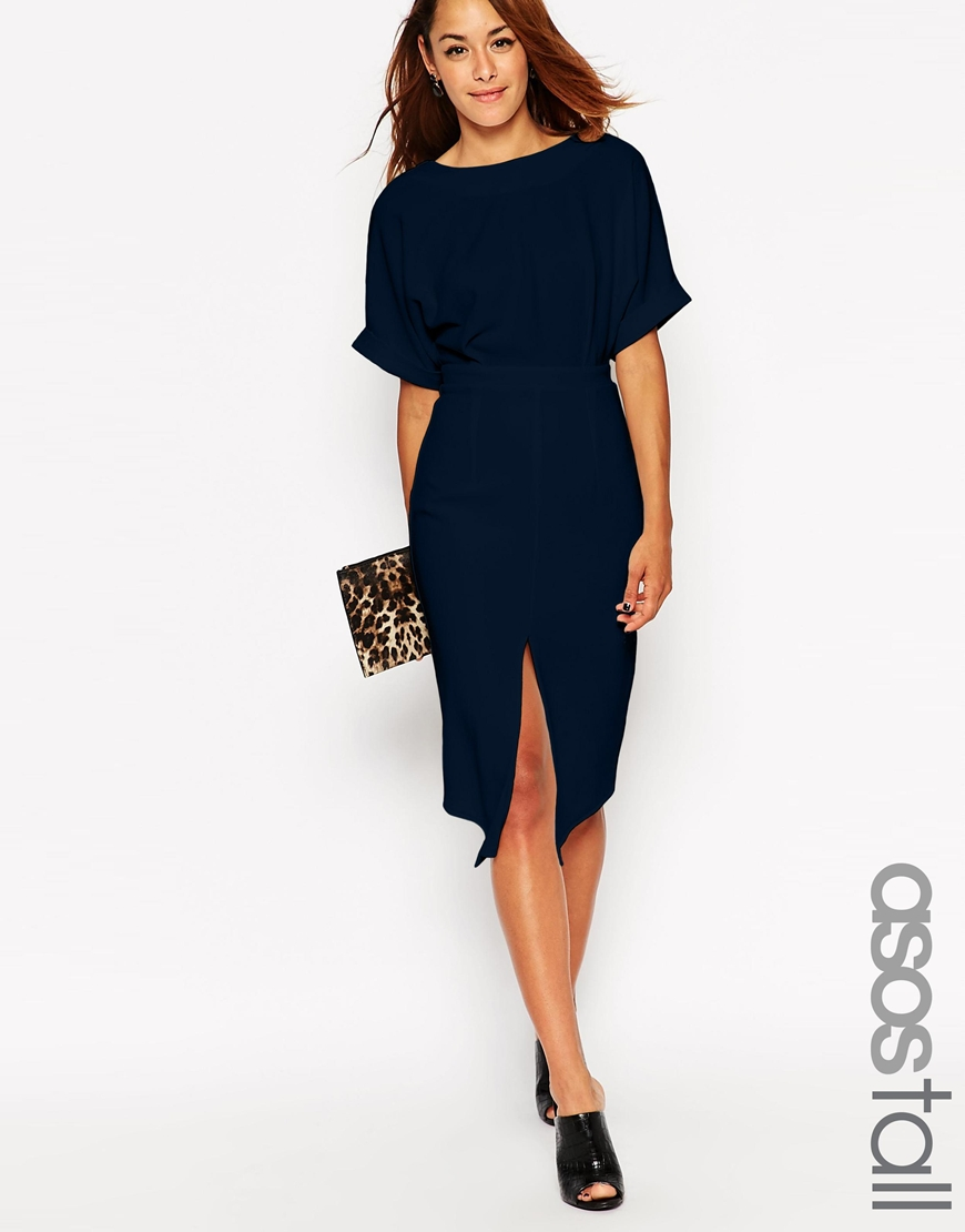 ASOS Tall Wiggle Dress with Split Front. Available in red, blue. ASOS. $76.