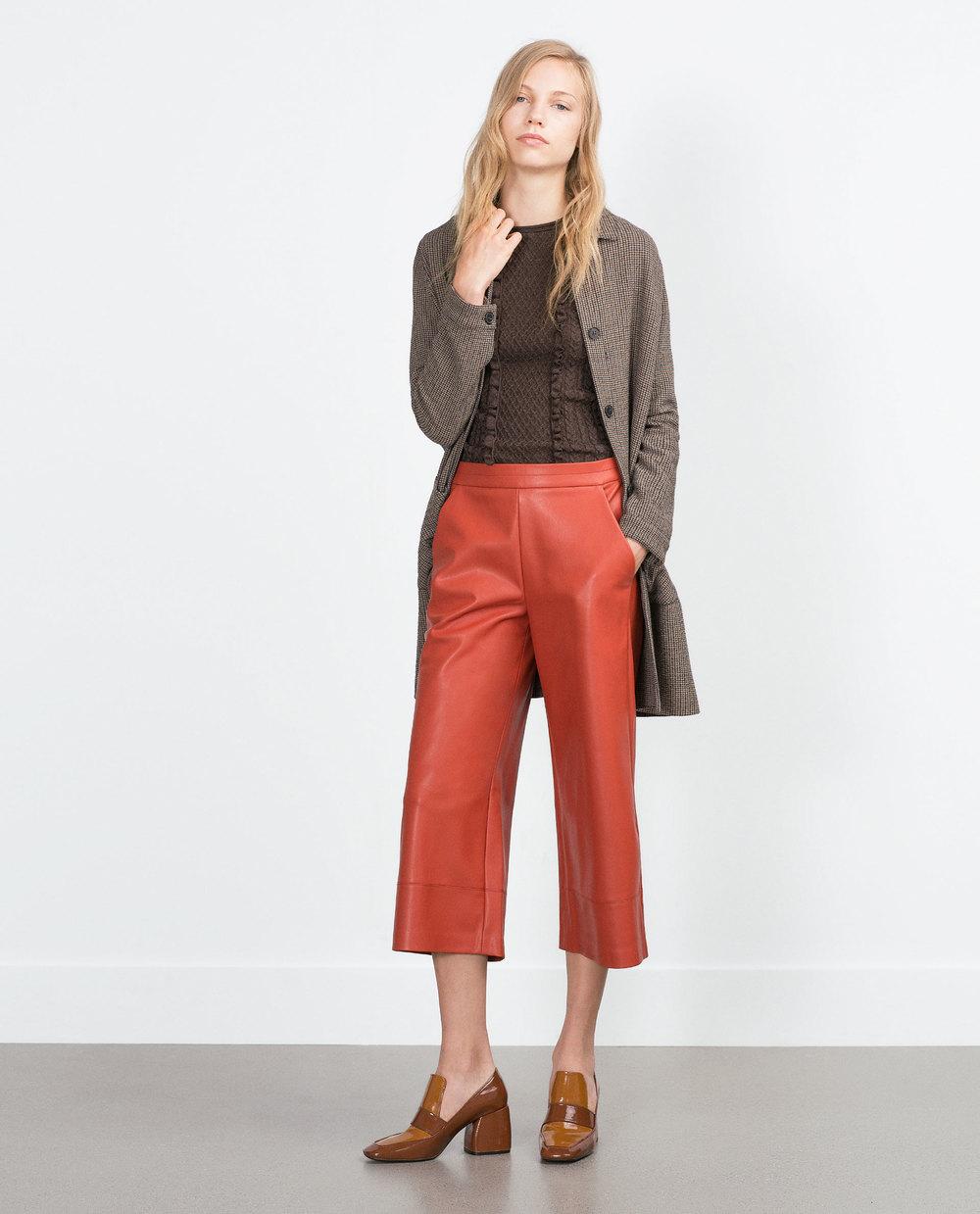 Faux Leather Culottes. Zara. $39.