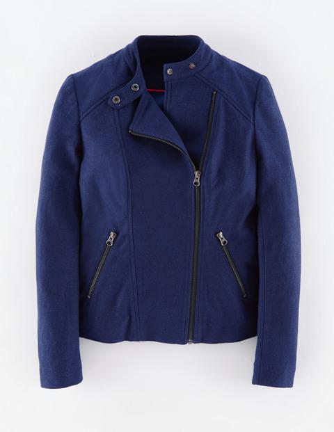 Emilia Biker Jacket WE504. Available in navy, grey. Biden. Was: $148 Now: $88.