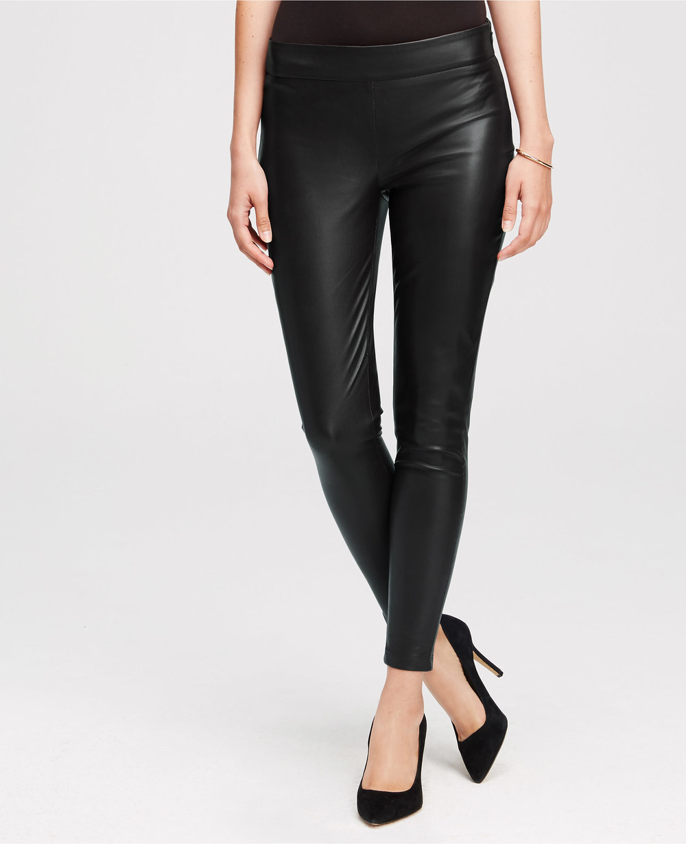 Tall Vegan Leather Leggings. Available in black, rusty red. Ann Taylor. $98. Additional 30% off right now.