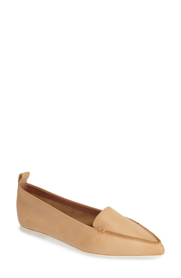 Jeffrey Campbell Vionnet Pointy Toe Flat. Available in red, black, nude. Nordstrom. $99.