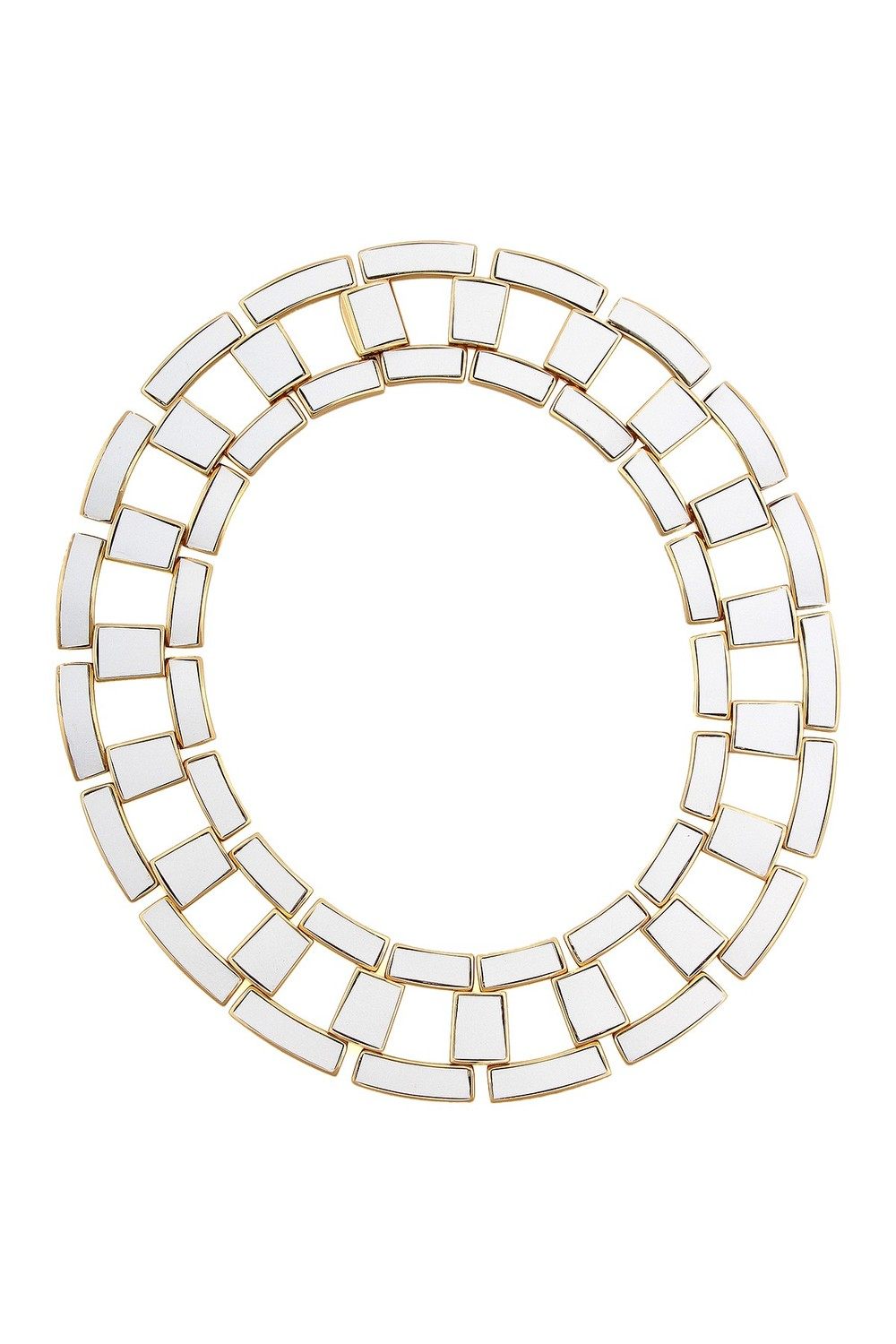 Rachel Zoe Leather Link Collar Necklace. Available in white, black. Nordstrom Rack. Was: $295 Now: $99.