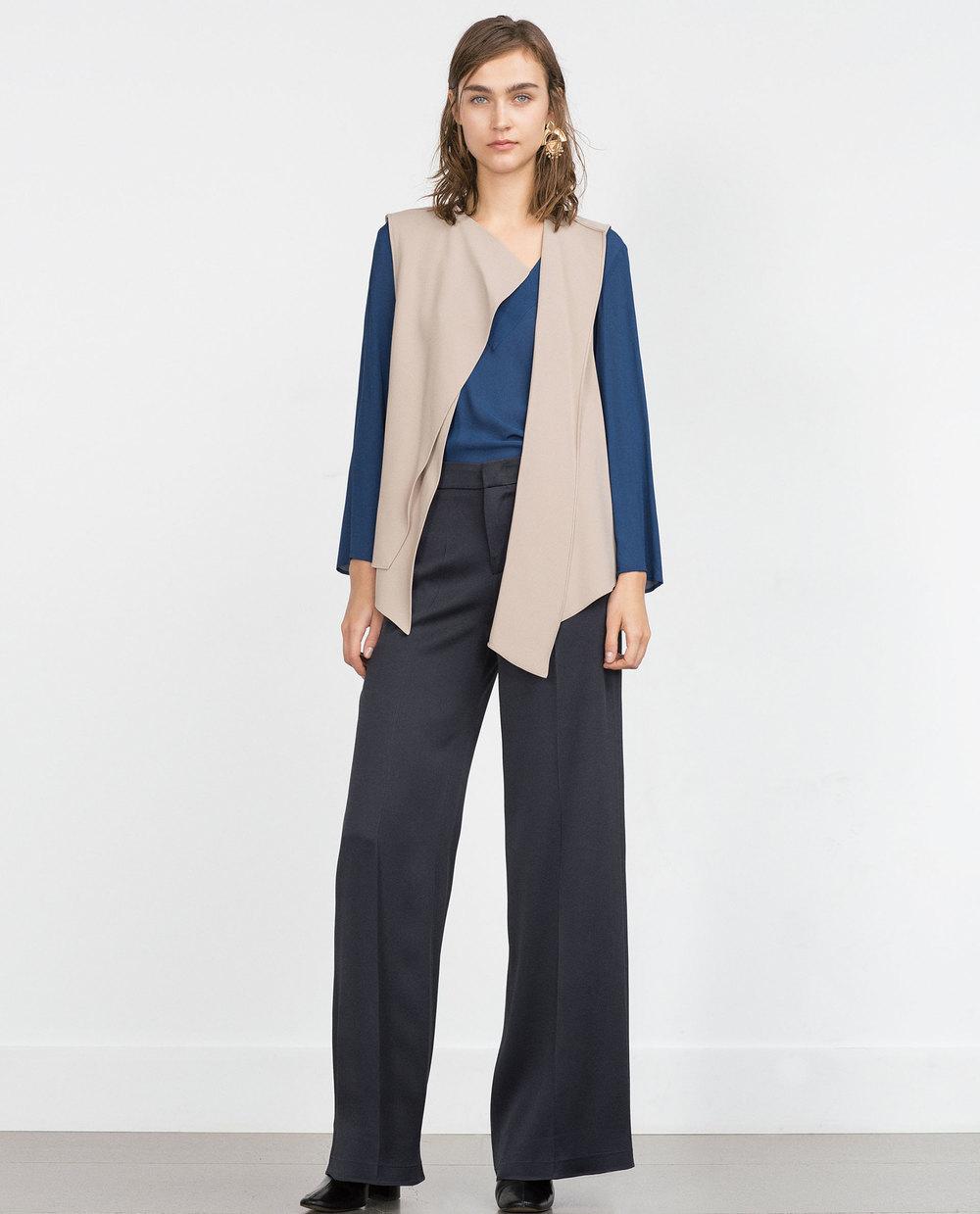 Flowing Waistcoat with Drawstring. Zara. $69.