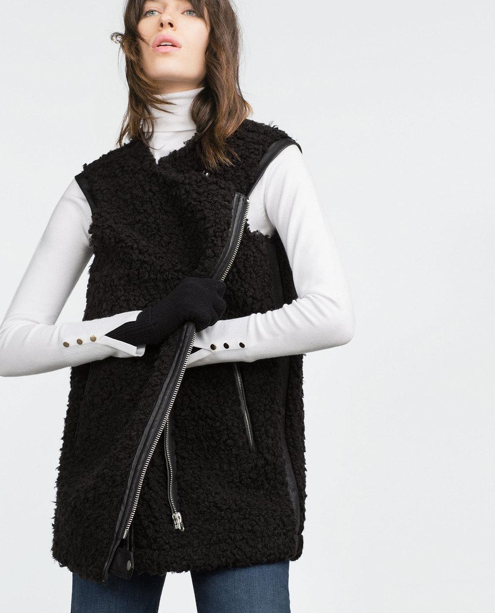 Biker Waistcoat. Zara. $99.