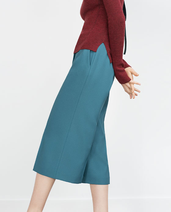 Culottes. Available in multiple colors. Zara. $39.