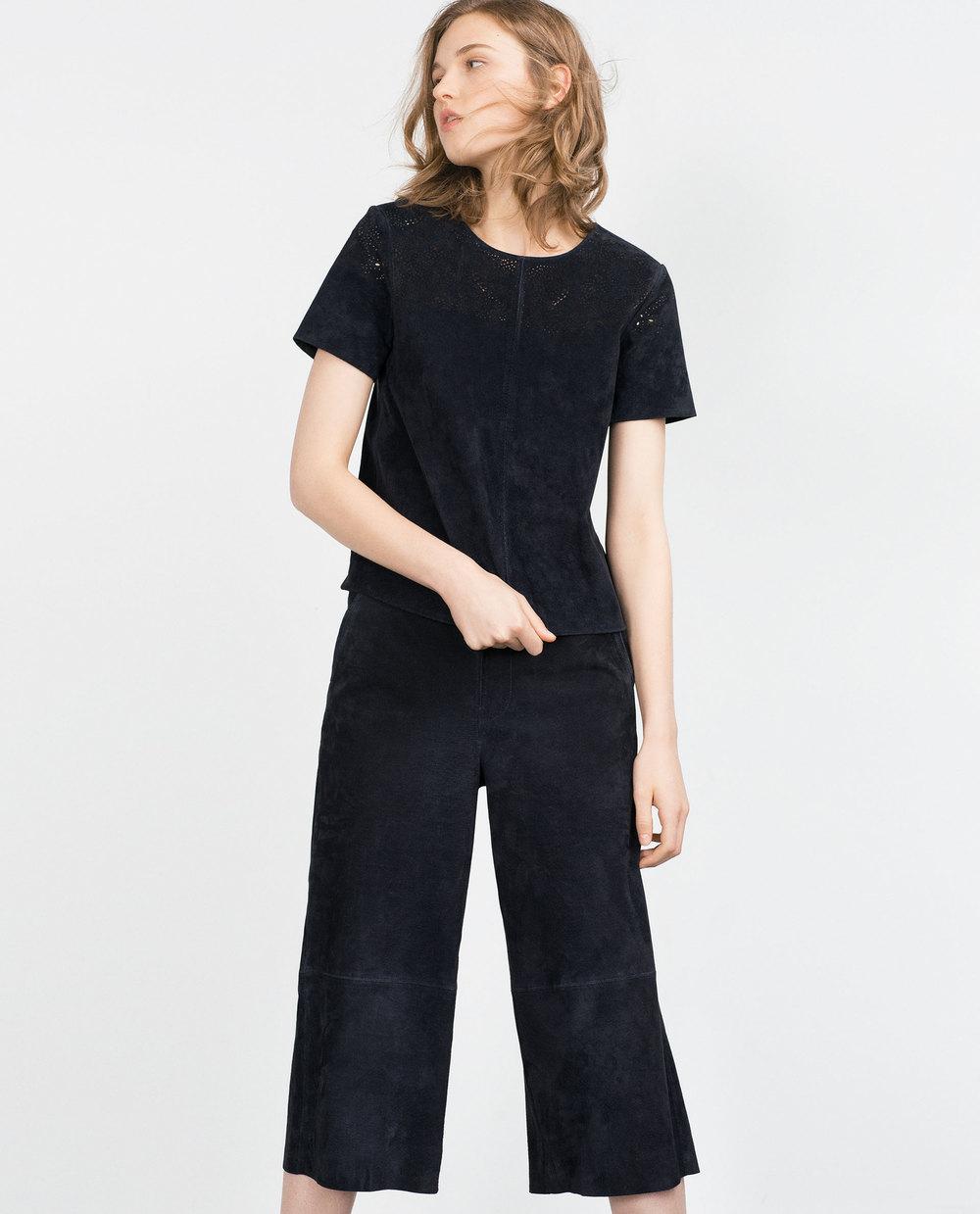 Suede culottes. Zara. $129.