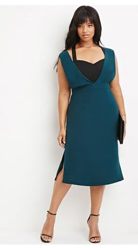 Deep V Midi Dress. Forever 21 Plus.$29.90.