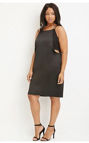 Cutout Layered Cami Dress. Forever 21 Plus. $27.90