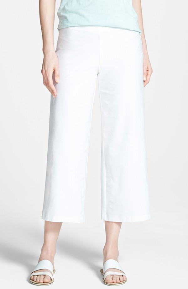 White Eileen Fisher Wide Leg Crop Pants. Online Only. Nordstrom. Was: $168 Now: $83.
