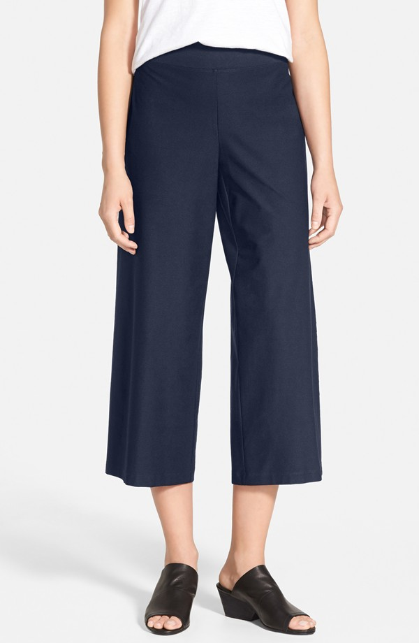 Navy Eileen Fisher Wide Leg Crop Pants. Nordstrom. Was: $168 Now: $83.