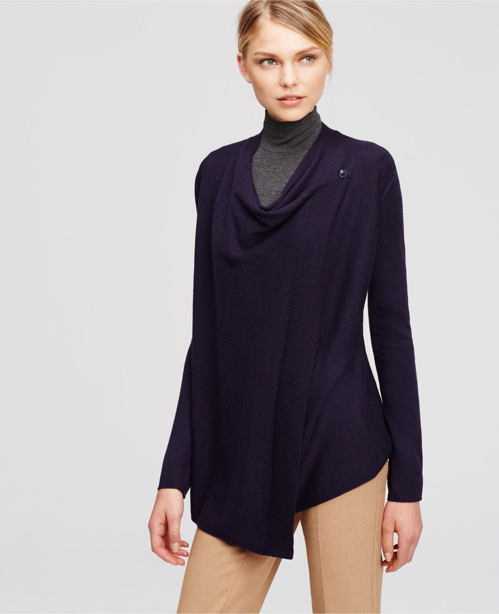 Navy Petite Wrap Sweater. Ann Taylor. $79.