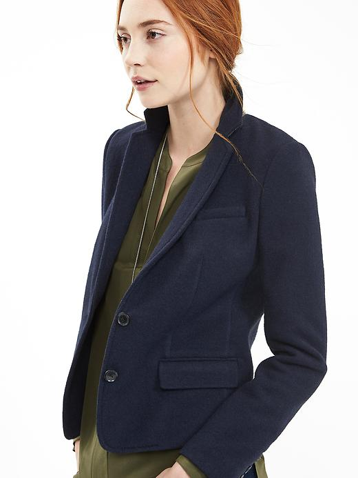 Petite Navy Two Button Blazer. Banana Republic. $168.