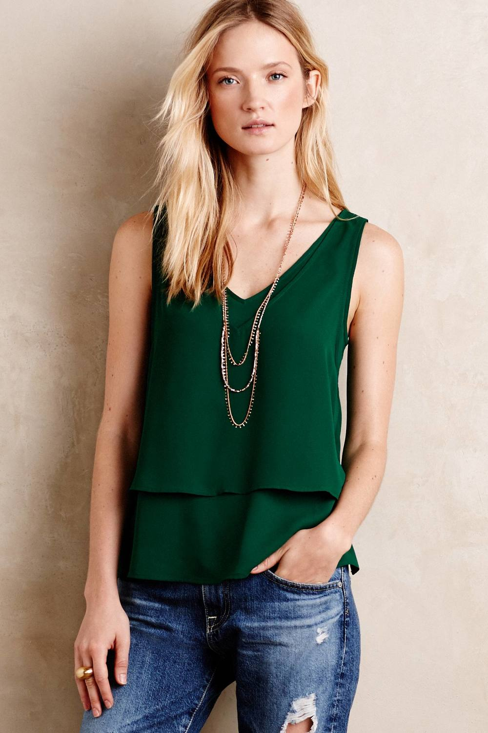 Petite Cedez Tank. Available in multiple colors. Anthropologie. $39.
