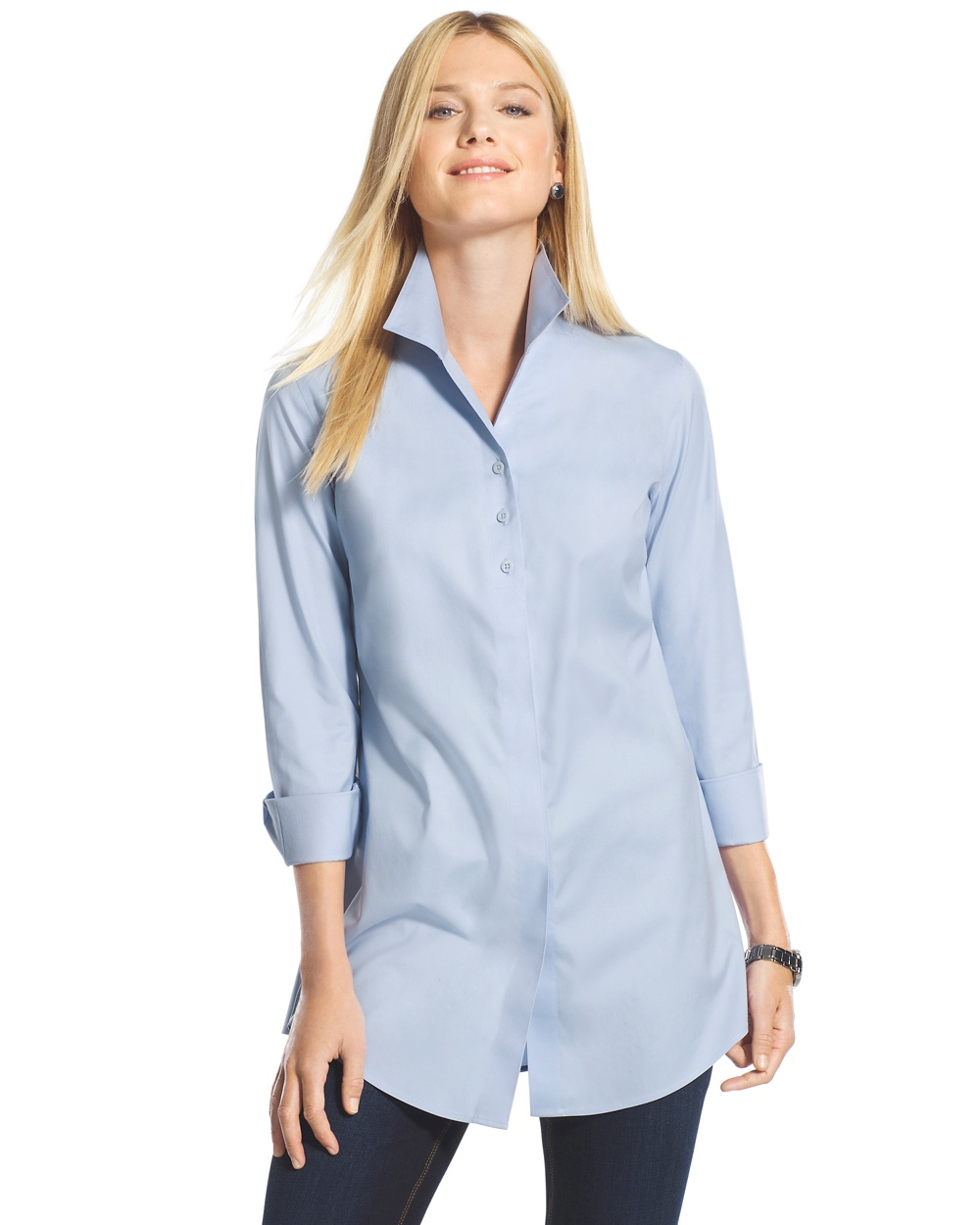 Effortless (No Iron!) Cotton Soleil Shirt. Available in multiple colors. Chico's. $89.