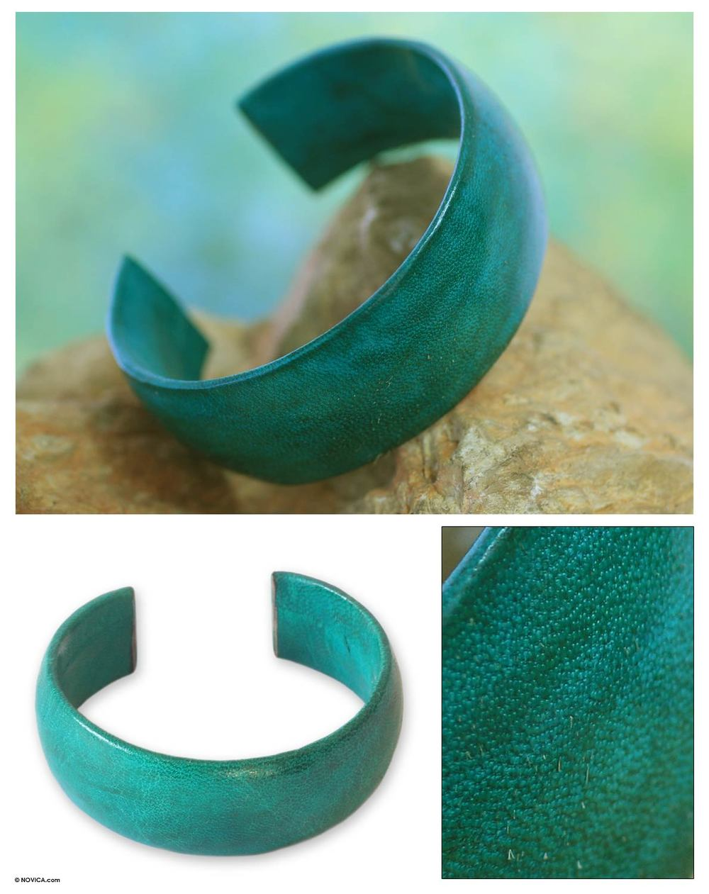 Fair Trade Leather Cuff Bracelet handmade in Ghana. NOVICA. Was: $45 Now: $28.