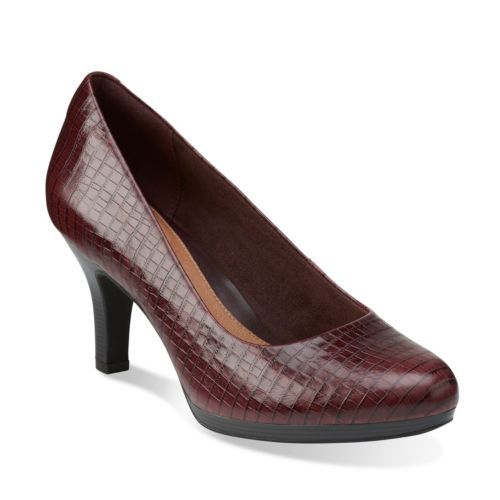 Tempt Appeal Burgundy Snake Leather. Clarks. $110.