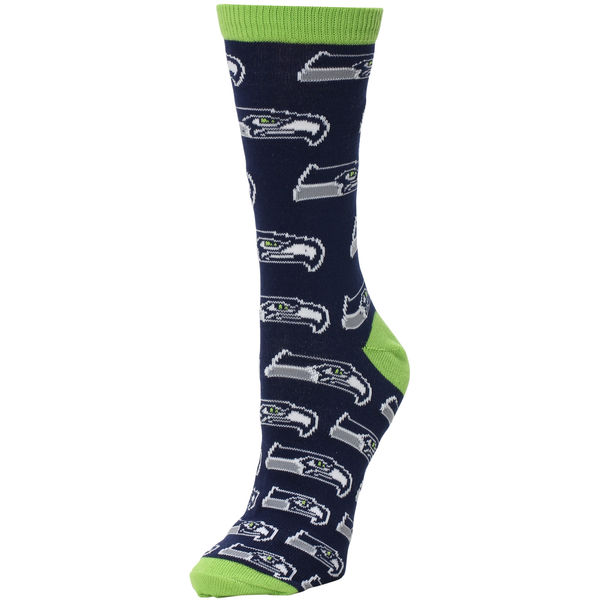 Seattle Seahawks Descending Grid Logo Tall Socks College Navy. Seahawks Pro Shop. $10.
