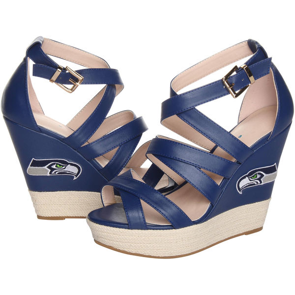 Cuce Shoes College Navy Seattle Seahawks Wedge Espadrille. Seahawks Pro Shop. $79.