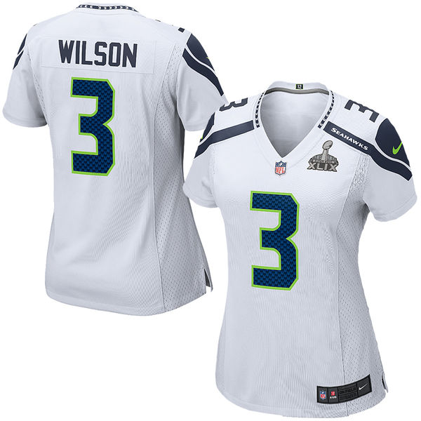 Seattle Seahawks Russell Wilson Nike White Super Bowl XLIX Game Jersey. Seahawks Pro Shop. Was: $115 Now: $94.