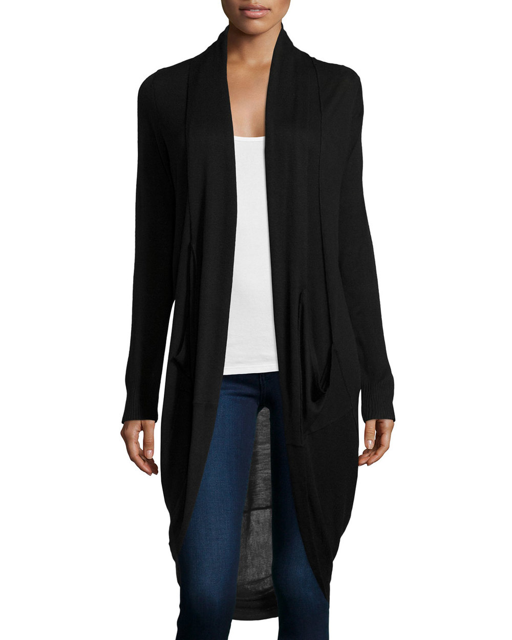 Neiman Marcus Draped Mixed Media Cardigan. Neiman Marcus Last Call. Was: $119. Now: $42.