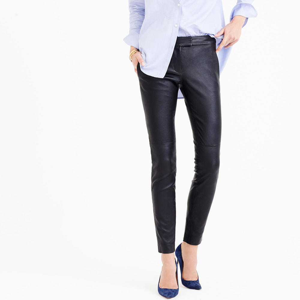 J.Crew Collection Leather Ryder Pant. Available in regular, petite. J.Crew. $650.