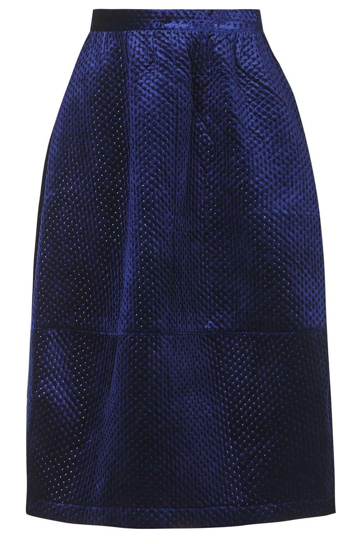 Embossed Velvet Skirt. Topshop. $130.