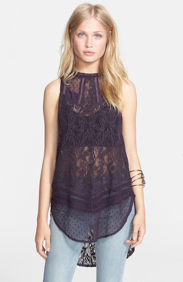 Free People Maisie Lace Tunic. Nordstrom. Was: $98 Now: $58.