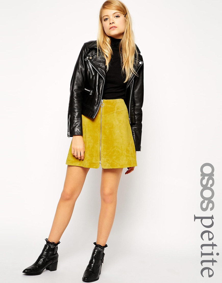 Petite A Line Skirt in Suede with Zip. ASOS. $99.