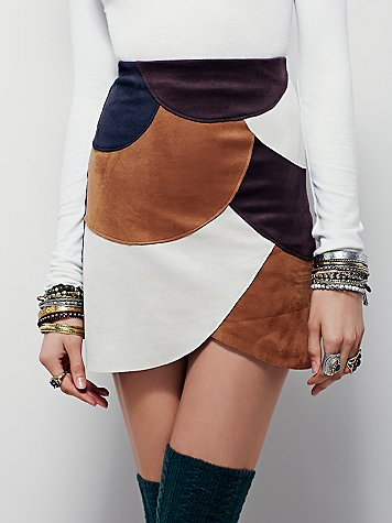 Liberty Garden Retro Patchwork Vegan Mini Skirt. Free People. $168.