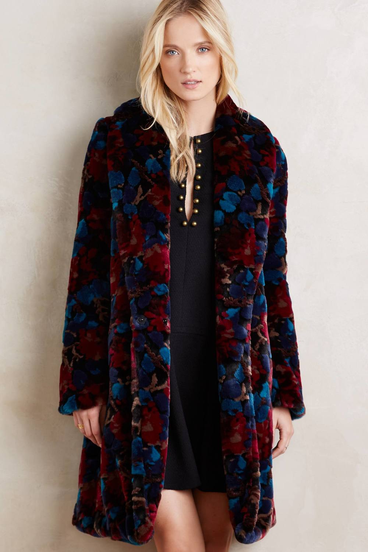 Petite Martigny Faux Fur Coat. Anthropologie. $398.