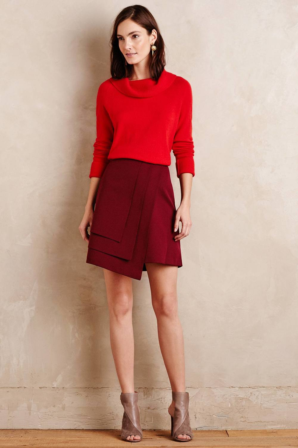 Petite Layered Wrap Skirt. Anthropology. $128.