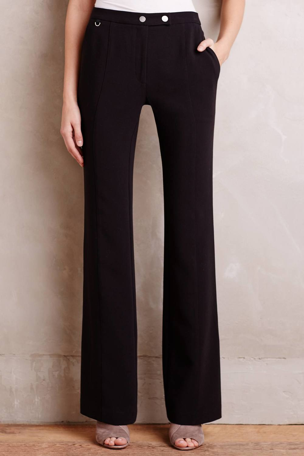 Petite Flared Elementary Trousers. Anthropologie. $118.