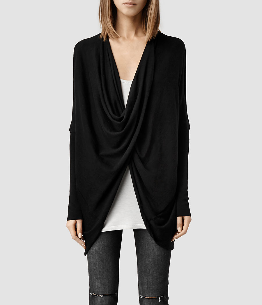 Itat Shrug. Available in grey, black, taupe. All Saints. $140.