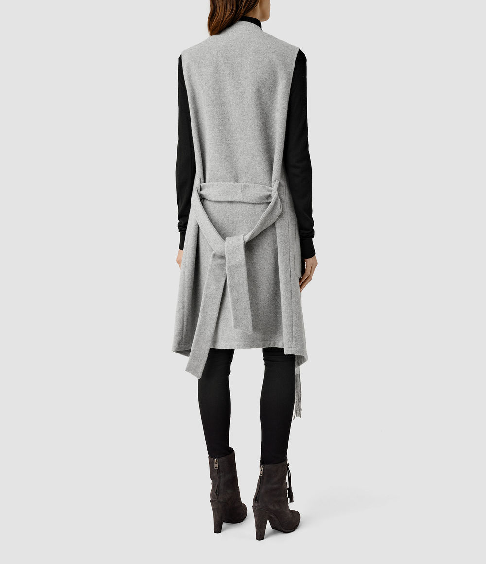 Paxon Sleeveless Coat. All Saints. $415