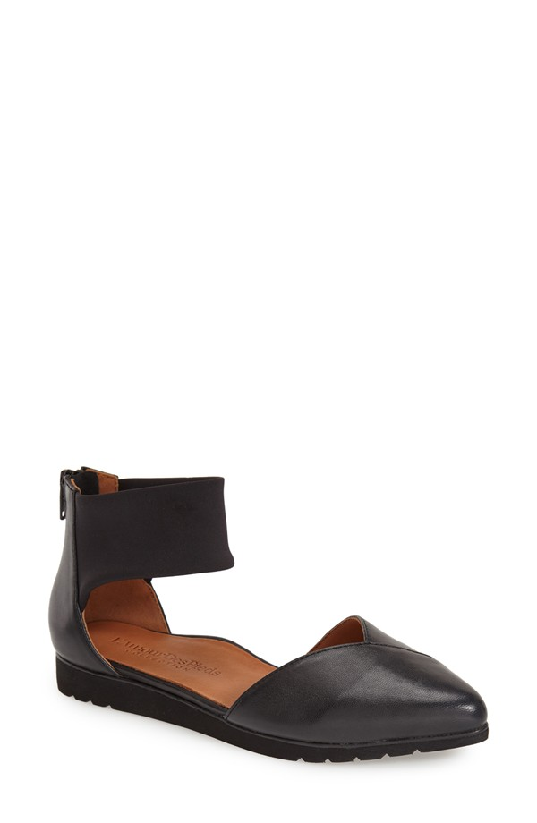 L'Amour des Pieds Marceau Ankle Strap Pointy Toe Flat. Available in black, brown. Nordstrom. Was: $197 Now: $149.