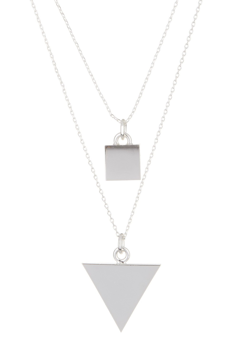 14th & Union Dual Row Geometric Necklace. Available in silver, gold. Nordstrom Rack. $12.