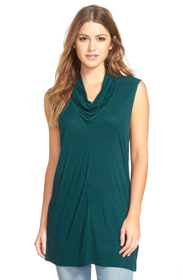 Halogen Sleeveless Drape Neck Tunic. Available in multiple colors. Nordstrom. Was: $58 Now: $20.