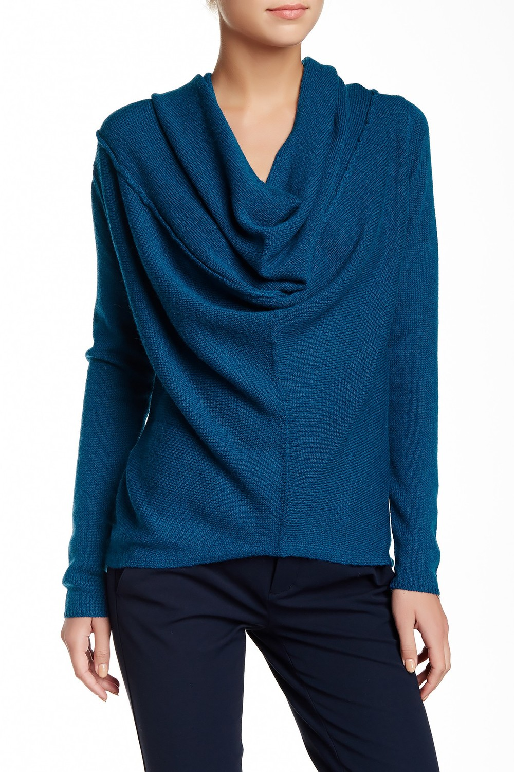 Vince Wool Blend Drape Front Sweater. Available in multiple colors. Nordstrom Rack. Was: $325 Now: $149.