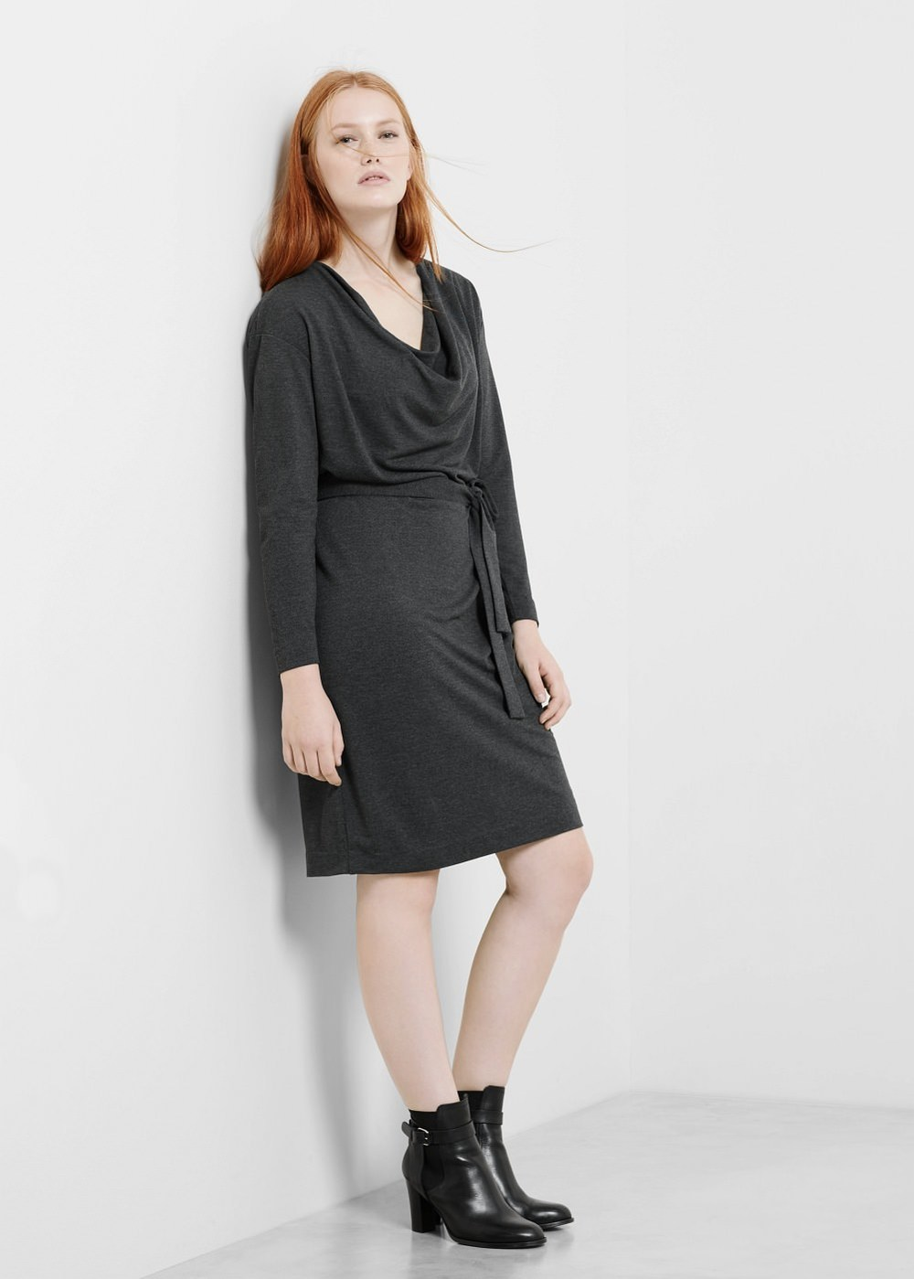 Belt Soft Dress. Violeta by Mango. $109.99