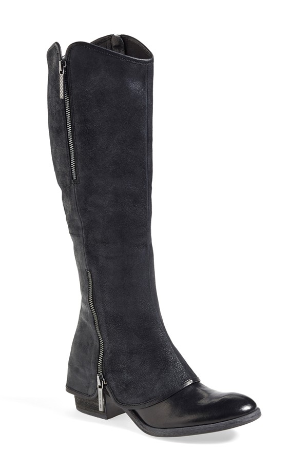 Donald J Pliner Devi Boot. Nordstrom. Was: $398 Now: $266. Try these on. The style is awesome, but the heel might be too high and the shaft is not technically narrow, although they run very narrow.