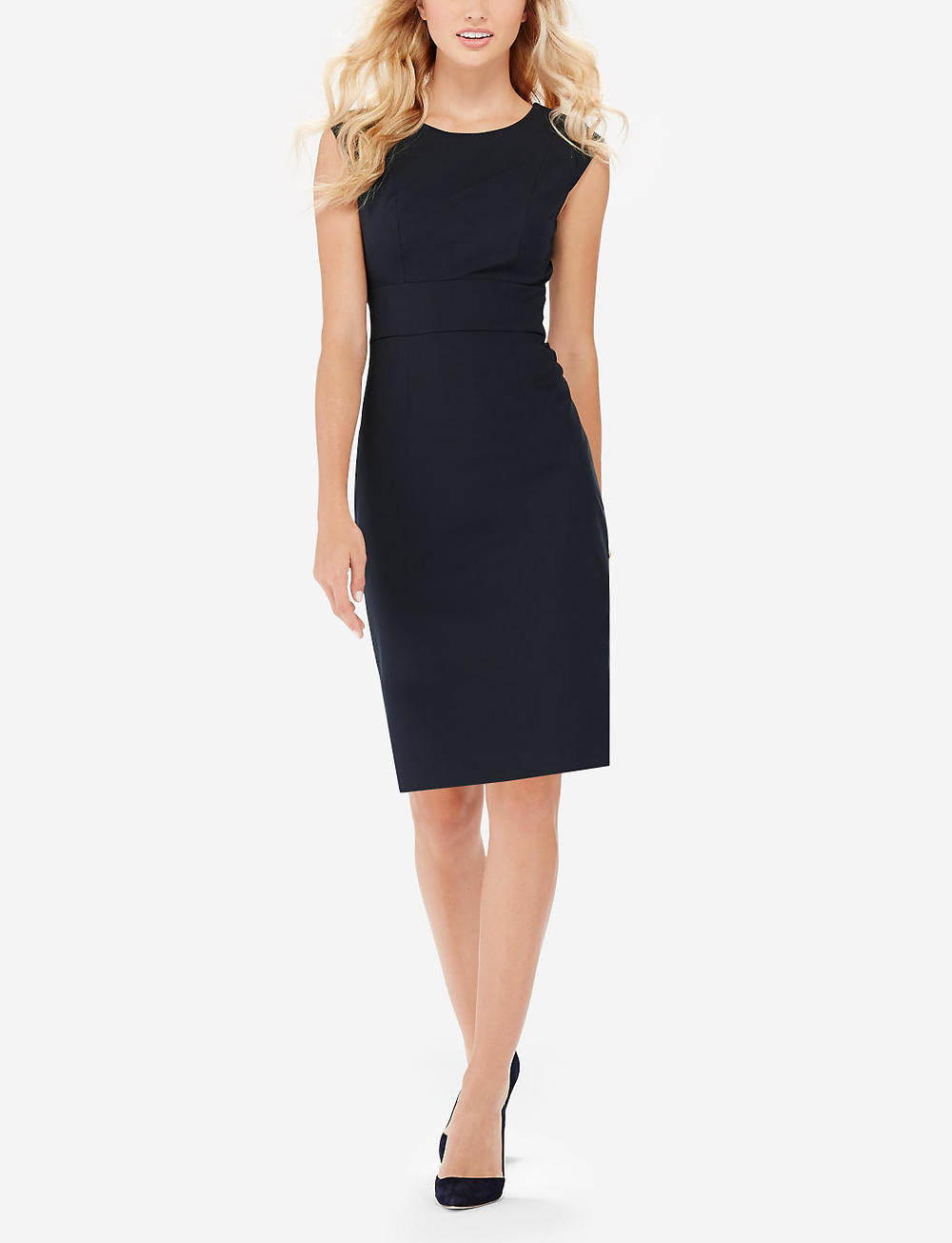 Collection V-back Sheath Dress. Available in multiple colors. (I vote for navy!). The Limited. Was: $99 Now: $49.