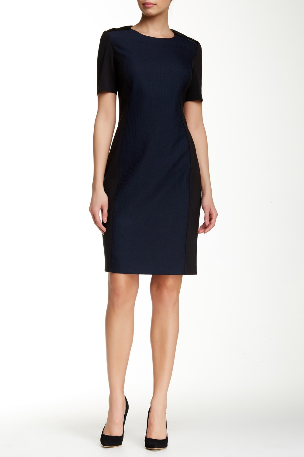 Tahari Avani Dress. Nordstrom Rack. Was: $158 Now: $89. (It's navy and black!)
