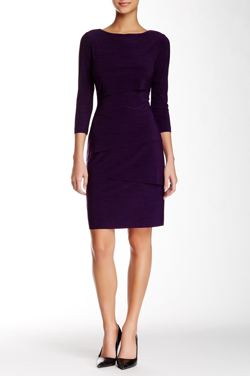 Tahari 3/4 Length Sleeve Melane Jersey Sheath Dress. Nordstrom Rack. Was: $128 Now: $49.