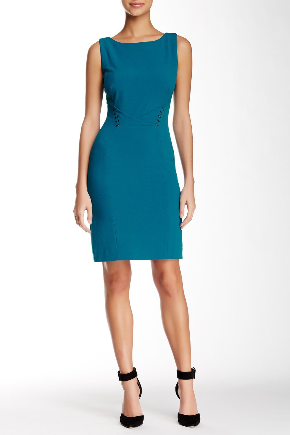 Tahari Hardware Sleeveless Dress. Nordstrom Rack. Was: $128 Now: $49.