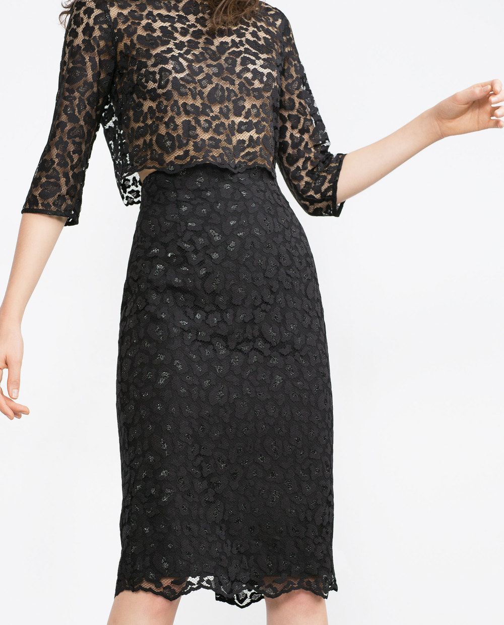 Lace Pencil Skirt. Zara. $49.